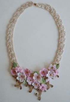 Crochet lace necklace | Explore lovewafoo's photos on Flickr… | Flickr - Photo Sharing!