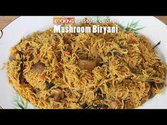 Mushroom Biryani in Pressure Cooker