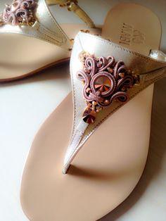 Sandali con applicazione soutache by MABI