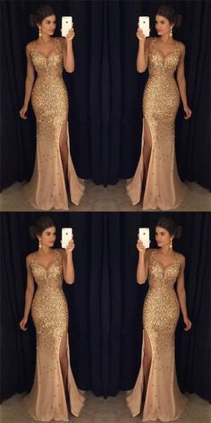 Most Popular Strap Rhinestone Long Mermaid Side Slit Gorgeous Sparkle Prom Dress. - - Most Popular Strap Rhinestone Long Mermaid Side Slit Gorgeous Sparkle Prom Dresses, Source by Gold Formal Dress, Modest Formal Dresses, Sparkly Prom Dresses, Tulle Prom Dress, Tight Dresses, Ball Dresses, Evening Dresses, Homecoming Dresses, Graduation Dresses