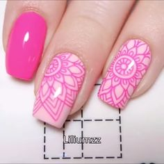 Stamping nail art is the best solution when you have no time but have to look perfect! art videos summer THE CUTEST FLORAL NAIL ART Nail Art Hacks, Gel Nail Art, Nail Art Diy, Nail Manicure, Toe Nails, Pink Nails, Nail Stamping Designs, Nail Art Stamping Plates, Nail Polish Designs