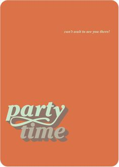 If you're in a retro party mood, these party invitations from Paper Culture may be playing your tune. Paper Culture, Cant Wait To See You, Eco Friendly Paper, Retro Party, Tiny Prints, The Time Is Now, Paper Envelopes, Card Sizes, Simple Designs