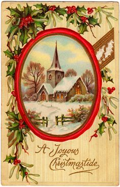 another vintage Christmas card (I love old lithographs!)
