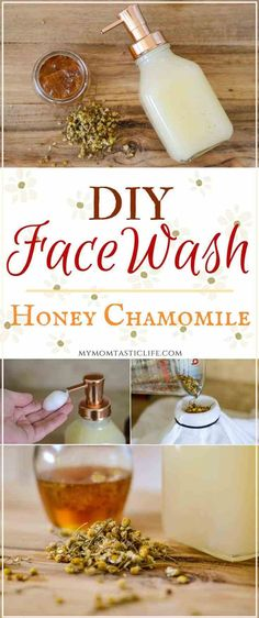 DIY Face Wash - Honey Chamomile For Sensitive Skin and Anti-Aging DIY Face Wash - Honey Chamomile With Castile Soap - This Natural Foaming Cleanser Is Great For Acne And Sensitive Skin Beauty Blender, Castile Soap, Homemade Beauty Products, Facial Products, Natural Beauty Products, Homemade Beauty Recipes, Natural Beauty Recipes, Soap Recipes, Skin Products