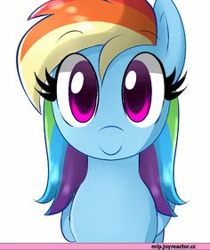 Rainbow dash. Adorable. But she's looking at you.... Meh, let's have a chat.
