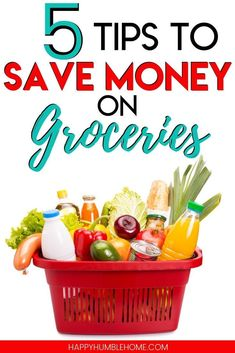 5 Tips to Save Money on Groceries - These frugal living ideas for lowering your grocery budget without coupons or apps will make saving money on groceries easy! Learn ways to feed your families health Money Saving Meals, Best Money Saving Tips, Save Money On Groceries, Ways To Save Money, Money Tips, Groceries Budget, Smoothies, Brunch, Shopping List Grocery