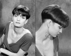 Bildresultat för bowl cut back Short Wedge Hairstyles, Very Short Haircuts, Cool Hairstyles, Straight Haircuts, Short Hair Cuts, Short Hair Styles, Pixie Styles, Bowl Haircut Women, Official Hairstyle