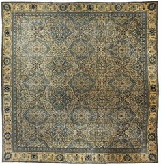 Antique Indian Rug in green color, interior decor with antique ornamental rug #rug #interior #decor