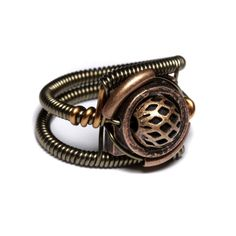Steampunk Jewelry - RING - Copper $30.00 via CatherinetteRings