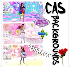 CAS Backgrounds Flowers at Annett's Sims 4 Welt via Sims 4 Updates