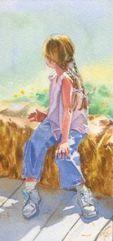 Cydney II Watercolor Portrait