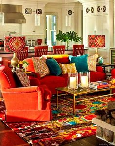 Bohemian living room decor bohemian living room decor home new style interior decorating bohemian modern living . bohemian living room decor home Bohemian Living Rooms, Colourful Living Room, Chic Living Room, Living Spaces, Living Area, Red Couch Living Room, Red Living Room Decor, Cozy Living, Bohemian Room