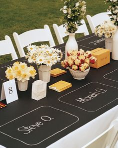 Butcher paper table cover wedding - Google Search