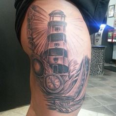 fe98e7208ab46 102 Best Light house tattoos images in 2018 | Traditional tattoos ...