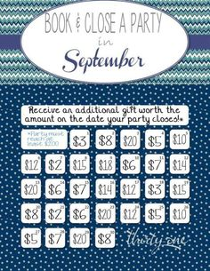 September 2015 hostessing perk chart