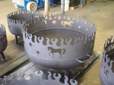 Fire Pit with a horse