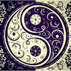 Scrolled Yin Yang