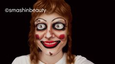 The conjuring Annabelle doll makeup Halloween makeup tutorial 2013