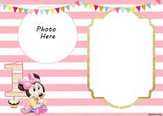 Minnie Mouse Invitation Template Online Best Of Free Printable Minnie Mouse Birthday Invitations – Free Printable Birthday Invitation Templates 1st Birthday Invitation Template, Invitation Baby Shower, Minnie Mouse Birthday Invitations, Minnie Mouse First Birthday, Mickey Mouse Invitation, Photo Birthday Invitations, Minnie Mouse Party, Diy Invitations, Invitation Layout