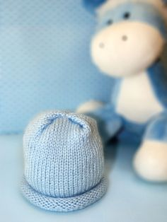 Knitted Preemie Hat ~ Free Pattern from Bernat at their new website Yarnspirations.com.
