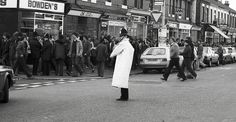 Going to the Match - Manchester Derby 1981 Manchester Football, Manchester Derby, Manchester Police, Manchester City, Manchester United, World In Motion, Football Fans, Street Photography, How To Find Out
