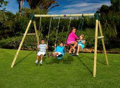 Plum+Colobus+Wooden+Swing+Set