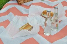 DIY Picnic Blanket for reception in the backyard!