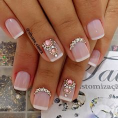 192 likes, 3 comments - silvana cintra ( on Perfect Nails, Gorgeous Nails, Pretty Nails, Short Nail Designs, Nail Art Designs, Hot Nails, Hair And Nails, Nagel Bling, Nagel Gel