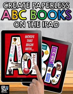 Learn how to make paperless alphabet books on the iPad with this engaging and versatile project on the free iPad app Pic Collage. Technology Lessons, Technology Integration, Technology Tools, Alphabet Activities, Alphabet Books, Listening Activities, Book Creator, Project Based Learning, Teaching Reading