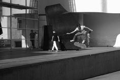 Exibición de este Skater en el MACBA de Barcelona