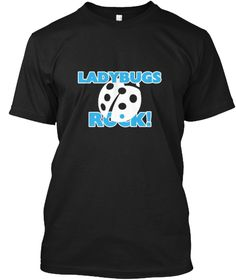 Ladybugs Rock! Black T-Shirt Front - This is the perfect gift for someone who loves Ladybug. Thank you for visiting my page (Related terms: Love Ladybugs,insect,beetle,ladybug,ladybird,animals,bugs,gardening,Valentino,ladybugs,ladybug,ladyb #Ladybug, #Ladybugshirts...)
