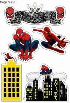 – Oh My Fiesta! for Geeks – Πάρτι Happy Birthday Spiderman, Spiderman Movie, Superhero Birthday Party, Spiderman Cake Topper, Superman Cakes, Superhero Cake, Paper Cake, Birthday Cake Toppers, Free Printables
