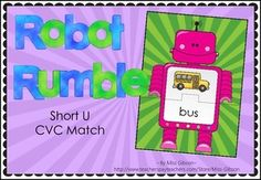 ROBOT RUMBLE - SHORT U CVC PUZZLE