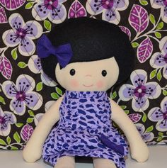 Rag Doll Pattern PDF Cloth Doll Violet