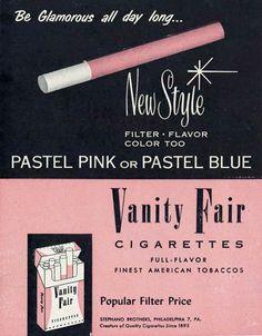 "vintagegal: "" Vanity Fair cigarette ad c. 1950s """
