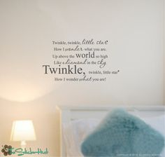 Twinkle Twinkle Little Star Vinyl Wall Art Text Lettering Quotes Words Decals Stickers 1008. $17.99, via Etsy.