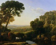 A Sunset or Landscape with Argus Guarding, Claude Lorrain