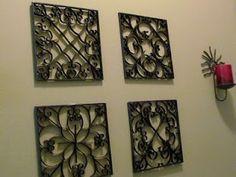 Faça você mesmo: quadros com rolos de papel higiênico - http://quadrosdecorativos.net/faca-voce-mesmo-quadros-rolos-de-papel-higienico/