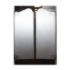 Puerta doble de vaivén de media altura, o puerta de saloon, esta versión metálica puede resultar atractiva por su sencillez.