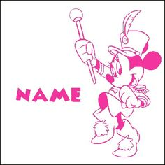 Sticker Disney Minnie Majorette personnalisé