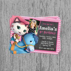 Sheriff Callie's Wild West Custom Birthday Invitation Digital File; You Print