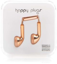 Happy Plugs Earbud Headphones. Fun, inexpensive, and stylish earbuds. Great gift for her, girls, ladies, kids, and teens to use to hear their favorite music.
