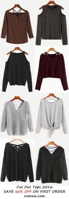 Sexy Fall & Winter - Cut Out Tops from romwe.com