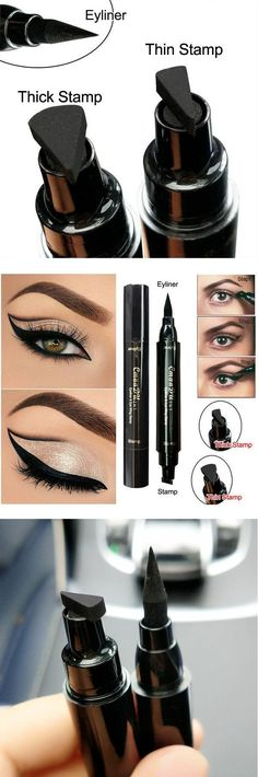 Strong-Willed Eyeliner Double Head Durable Waterproof Black Wing Seal Eyeliner Eye Makeup Beauty Pencil Tool Maquillage Skilful Manufacture Eyeliner Back To Search Resultsbeauty & Health