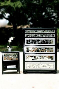 Mirrored Mosaic 6 Drawer Tall Dresser And By Lmodesigngroup