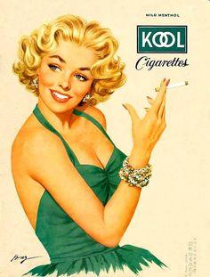 Cigarettes Glamour Pin-Ups by Ben-Hur Baz (1906–2003)  736×972 пикс