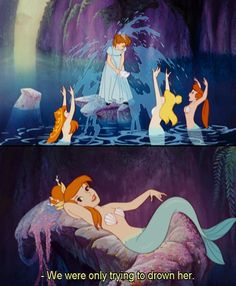 Peter Pan. #animation #disney #mermaids {This part cracks me up! The first mean girls!}