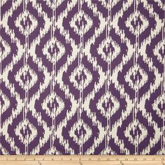 Eroica Tribal Jacquard Eggplant from Refresh and modernize any piece of furniture with this heavyweight jacquard fabric, perfect for window treatments, accent pillows, upholstering furniture, headboards and ottomans. Colors include off white and purple. Living Room Upgrades, Purple Bathrooms, Purple Fabric, Ikat Print, Jacquard Fabric, Home Decor Fabric, Upholstered Furniture, Pattern Mixing, Accent Pieces