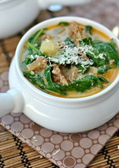 Zuppa toscana soup is the perfect hot lunch!