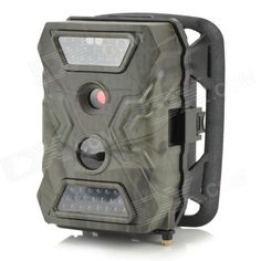S-105 2.0 LCD 5.0 MP Waterproof IR Night Vision Outdoor Hunting Camera - Camouflage Grey